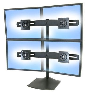 Lenovo monitorarm: DS100 Quad-Monitor Desk Stand - Zwart