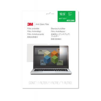 """3m schermfilter: AG12.5W9 Filter anti-schittering voor breedbeeldlaptops 12.5"""" - Transparant"""