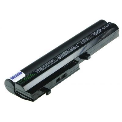 2-power batterij: Rechargeable battery for notebooks, Li-Ion, 10.8V, 4600mAh, 6cell, Black - Zwart