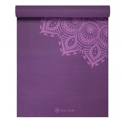 Gaiam fitness, gymnastiek & gewichtstraining: Premium Mandala - Yogamat - 5mm - Paars