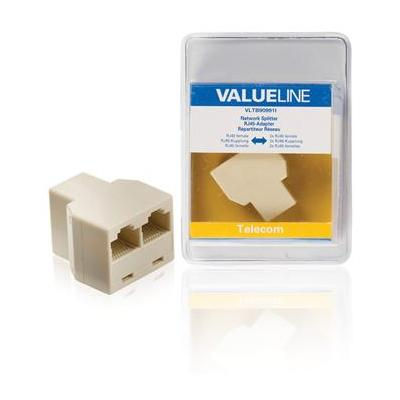 Valueline netwerk splitter: RJ45/2x RJ45 - Ivoor