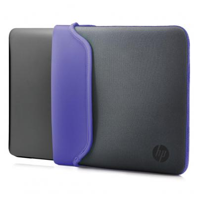 "Hp laptoptas: 11.6"" Neoprene Sleeve Gray/Purple - Grijs, Paars"