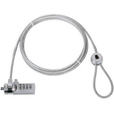 König kabelslot: Universal coded computer lock, 1.8m, Metal / Plastic, Silver - Zilver