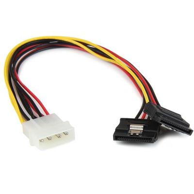 StarTech.com 30cm LP4 naar 2x Vergrendelbare Y-adapter Splitterkabel SATA Voeding 4-pin Molex naar 2x SATA .....