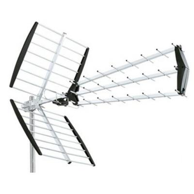 König antenne: UHF antenna 27 elements (LTE filter) - Zwart, Zilver