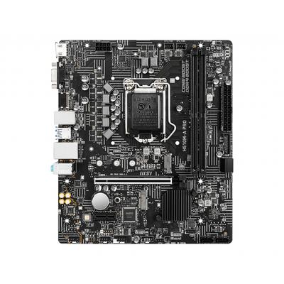 MSI mATX, Intel H510, LGA1200, 2 x DDR4, PCIe x16, PCIe x1, 2 x M.2, 4 x SATA, Gigabit LAN, PS/2, VGA, HDMI, 4 x USB .....