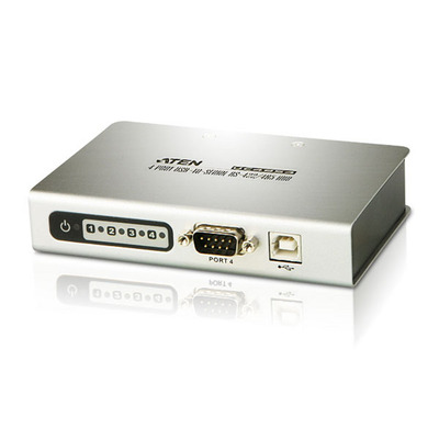 Aten 4 port USB2.0-to-Serial for RS-422/RS-485 Hub - Zilver