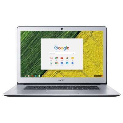 "Acer laptop: Chromebook 15 CB515-1HT-C1W7 - 15.6"" Celeron 4GB RAM 64GB Flash - Chrome OS - Zilver, QWERTY"