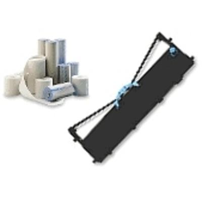 Lexmark Black Nylon Printer Ribbons (6/pack) Printerlint - Zwart