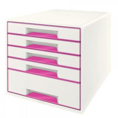 Esselte bureaulade: Wow Cube - Roze, Wit
