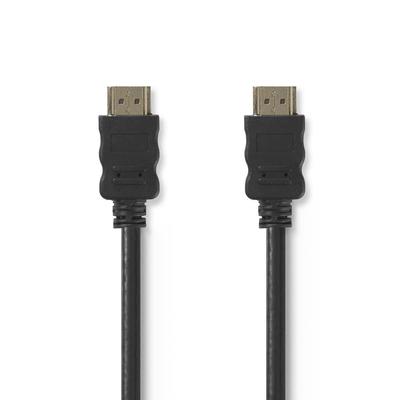 Nedis High Speed HDMI™-Kabel met Ethernet, HDMI™-Connector - HDMI™-Connector, 2,0 m, Zwart HDMI kabel