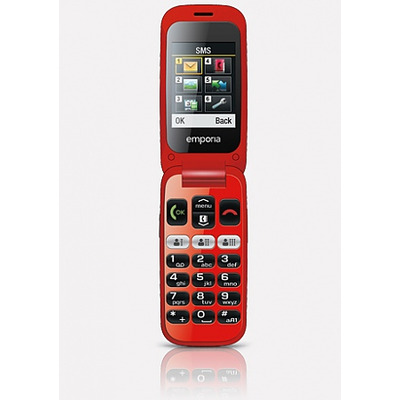 Emporia ONE Mobiele telefoon - Zwart, Rood
