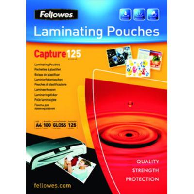 Fellowes 125 micron lamineerhoes glanzend - 65x95mm Laminatorhoes - Transparant