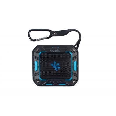Gecko Speaker: - Waterproof Bluetooth speaker Square - Zwart