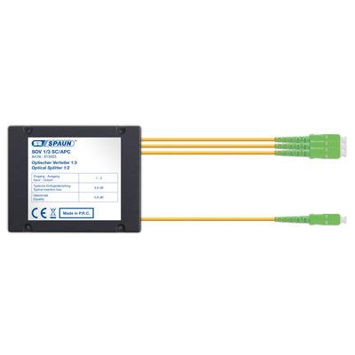 Spaun 815003 Kabel splitter of combiner - Zwart