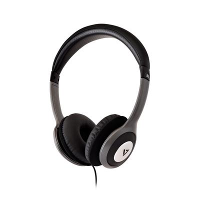 V7 HA520-2EP Headset - Zwart, Zilver