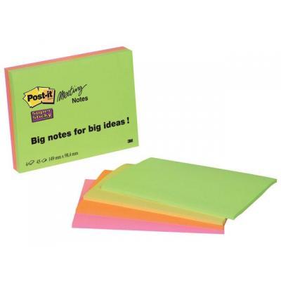 Post-it zelfklevend notitiepapier: Notitieblok Super Sticky 149x98 gl/pak 4