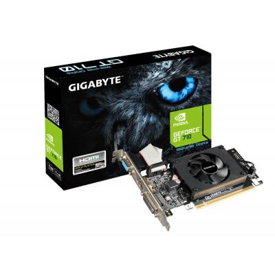 Gigabyte videokaart: GeForce GT 710 - Zwart