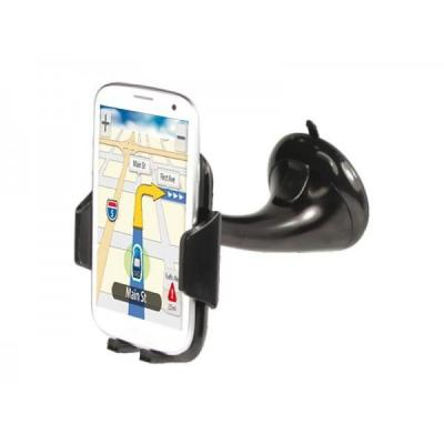 Adj : Holder Strong Grip with suction cup for Smartphone/Navigator - Black - Zwart