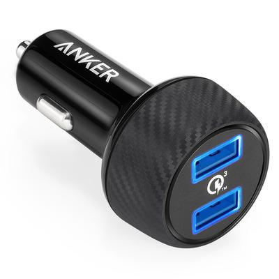 Anker PowerDrive Speed Oplader - Zwart