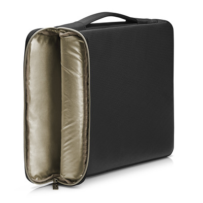 "Hp laptoptas: 14"" Carry Sleeve Black/Gold - Zwart, Goud"