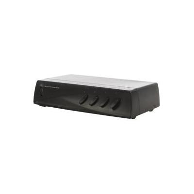 Hq Audio switch : Manual 4 Port Audio Switch, 400 g, Black - Zwart
