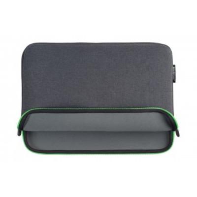 "Gecko Zipper sleeve Laptop 13"", Universal, Groen/Grijs Laptoptas"