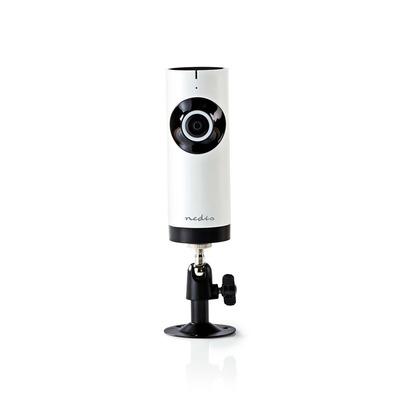 Nedis IP-beveiligingscamera, 1280x720, Panorama, Wit / zwart Beveiligingscamera - Zwart, Wit