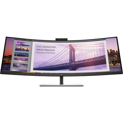 "HP S430c 43,4"" 4K UHD VA Curved UltraWide USB-C Monitor - Zwart"