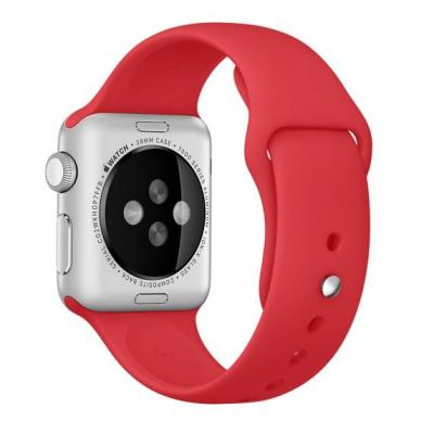 Apple horloge-band: Sportbandje - (PRODUCT)RED (38 mm) - Rood