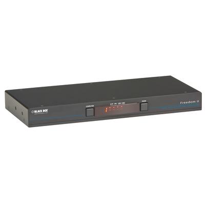 Black Box Freedom II KVM switch - Zwart,Grijs