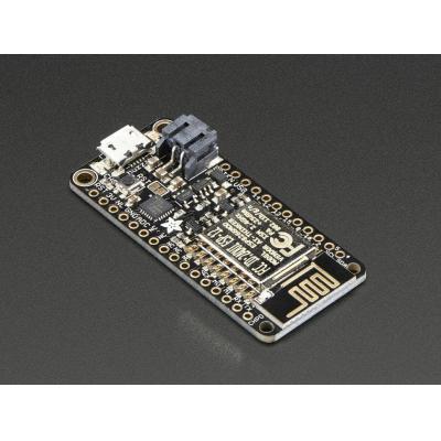 Adafruit : Feather HUZZAH, ESP8266 80MHz, 4 MB, Wi-Fi 802.11 b/g/n, USB, 9x GPIO pins, 23x51x7.2 mm