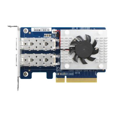 QNAP QXG-10G2SF-CX4 Netwerkkaart - Blauw, Wit