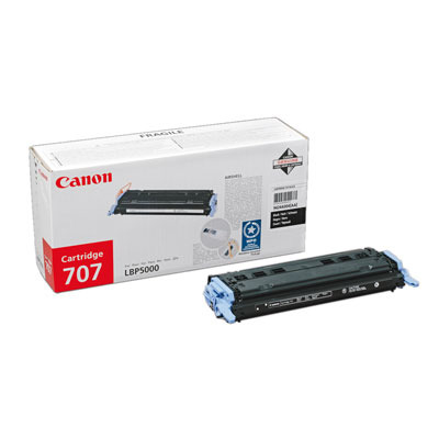 Canon 707 Black Cartridge Toner - Zwart