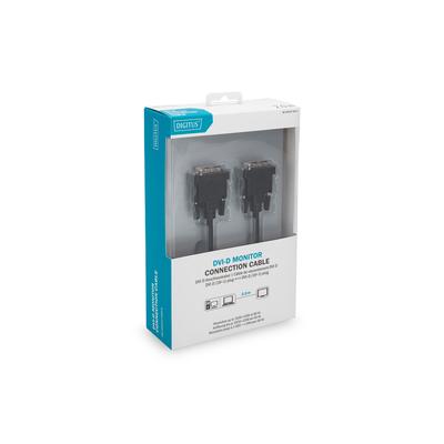 Digitus 2m, 2xDVI-D DVI kabel  - Zwart