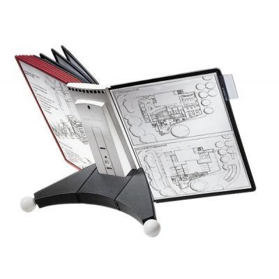 Durable : SHERPA table 10 - Zwart, Grijs, Rood