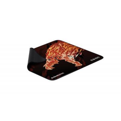 Steelseries QcK+ Limited Howl Edition muismat - Zwart, Rood, Geel