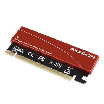 Axagon PCEM2-S Interfaceadapter - Zwart, Rood