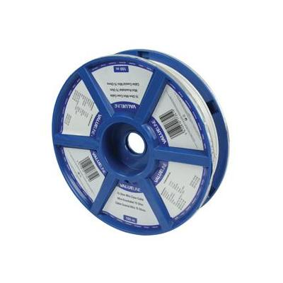 Valueline coax kabel: Mini coax cable on reel 100m - Wit
