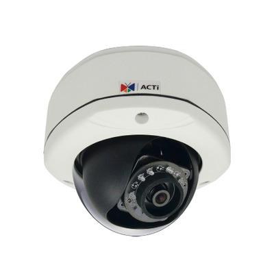 ACTi E72A Beveiligingscamera - Zwart, Wit