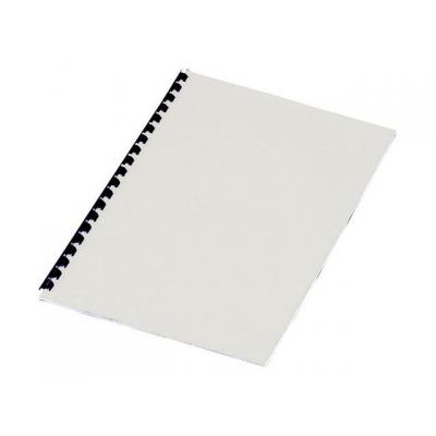 Staples binding cover: Schutblad SPLS A4 leather 250g wit/pk100