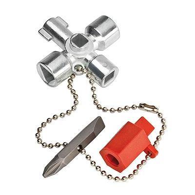 Knipex stopcontact & gereedschapset: Schakelkastsleutels voor alle standaard schakelkasten en afsluitsystemen, 76 .....