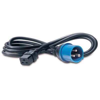 Apc electriciteitssnoer: C19/IEC309 2.5m - Zwart, Blauw