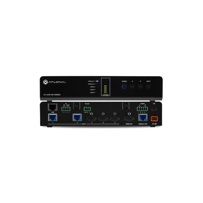 Atlona 4096 x 2160 px, 100 m, 10.2 Gbps, HDCP, 2 x RJ-45 In, 1 x RJ-45 Out, LAN, 3 x HDMI In, 1 x HDMI Out, USB, .....