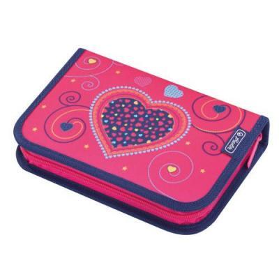 Herlitz potlood case: Pink Hearts - Multi kleuren
