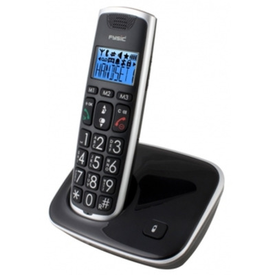 Fysic dect telefoon: FX-6000 Big Button DECT telefoon - Zwart