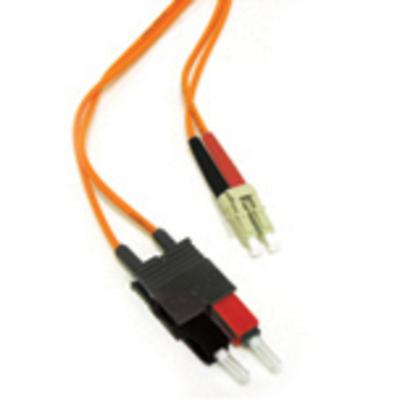C2G 2m LC/SC LSZH Duplex 62.5/125 Multimode Fibre Patch Cable Fiber optic kabel