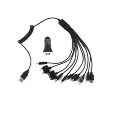 MicroMobile Car adapter, 5V, 2.1A, black Oplader - Zwart
