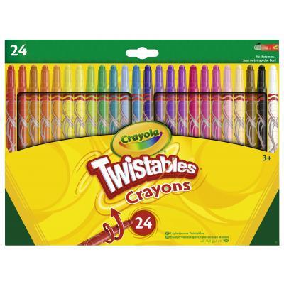 Crayola : 24 Draaiwaskrijt - Multi kleuren