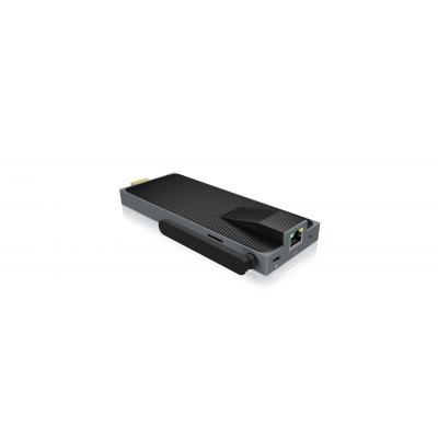Icy box : Intel Atom Z8300, 2 GB DDR3L, 32 GB eMMC, HDMI, RJ-45 10/100 Mb/s, Wi-Fi, MicroSD, Bluetooth 4.0, USB 3.0, .....